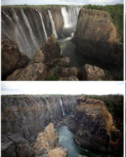 Air Terjun Victoria, Terbesar di Dunia, Alami Kekeringan Parah