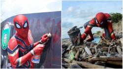 Bersihkan Sampah dengan Kostum Spider-Man, Aksi Rudi Hartono Ini Bikin Kagum karena Keren