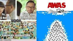 10 Meme Kocak Soal Takut Hamil di Kolam Renang. Wajar sih Kalau Ngeri, Pejabatnya Aja Begitu