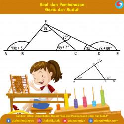Contoh Soal Garis dan Sudut Matematika SMP