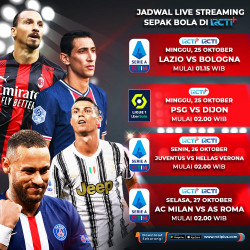 Jadwal Siaran Langsung Liga Italia Serie A Pekan Kelima, Ada AC Milan Vs AS Roma Gratis