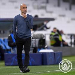 Marseille vs Man City 0-3, Begini Reaksi Puas Pep Guardiola Kepada para Pemainnya