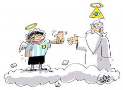 Maradona Mengembalikan Tangan tuhan yang Pernah Dipinjamnya