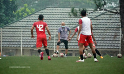 Suasana Latihan Persija Menuju Piala Menpora 2021